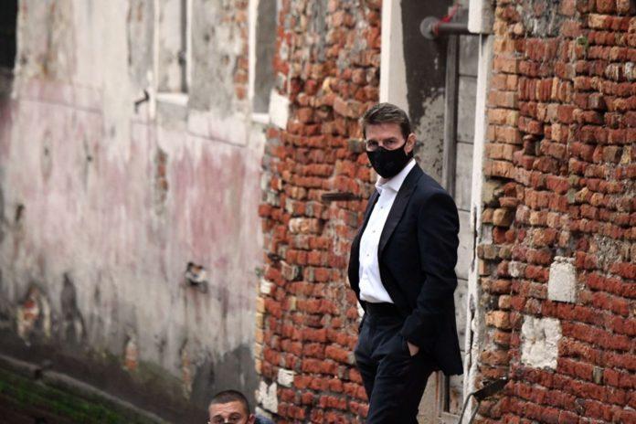 Tom Cruise Görevimiz Tehlike 7 Filminin Venedik'teki Setinde