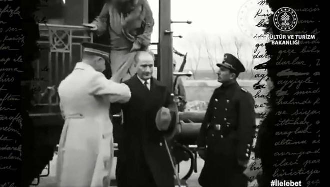 Kültür ve Turizm Bakanı Mehmet Nuri Ersoy'dan Atatürk'ün İlk Kez Yayınlanan Görüntüleri