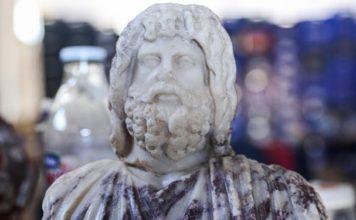 Kibyra'da Roma Dönemine Ait Serapis Büstüyle Asklepios Heykelciği Bulundu