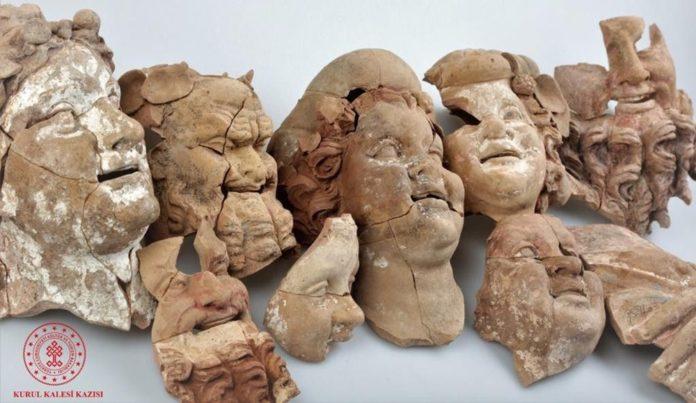 Ordu Kurul Kalesi'nde 2 Bin 100 Yıllık Büst ve Masklar Bulundu