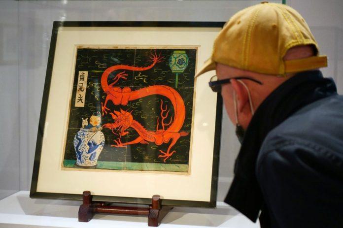 Herge'in Tenten Çizimine Paris'te 2,6 Milyon Euro'luk Rekor Fiyat