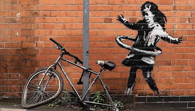 Banksy'nin Duvar Resmi Kaldırıldı