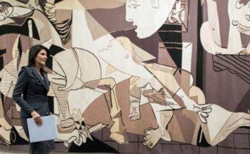 Guernica'nın Duvar Halısı Versiyonu BMGK'nin Girişindeki Duvardan Kaldırıldı