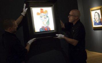 Picasso Portresi Femme au Beret Mauve Satışta
