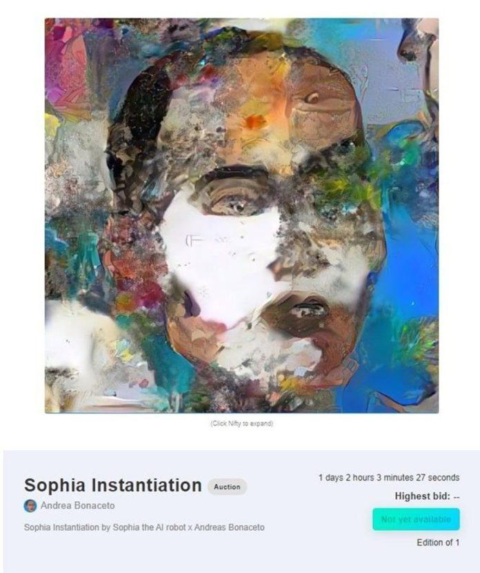 Robot Sophia'nın Yaptığı Tablo 688 Bin 888 Dolara Satıldı
